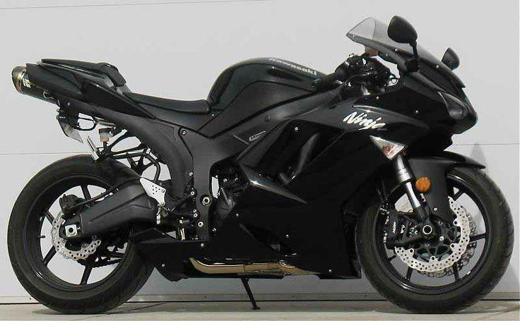 kawasaki ninja zx-6 r black