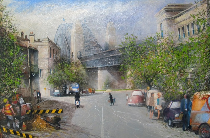 Lower Fort Street, oil on canvas, 91x61cm. Maynard Waters, Bungendore Wood Works Gallery. August 11 – September 30, 2012