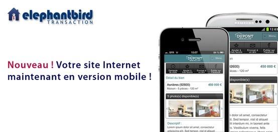 Votre site Internet d'agence maintenant disponible en version mobile ! Contactez-nous au 01 47 66 28 80 ou par mail contact@elephantbird.fr