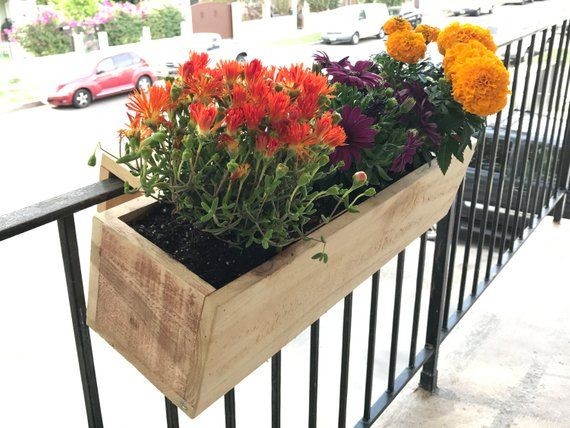 Balcony Rail Planter Box Balcony Planters Railing Planters Small Balcony Garden