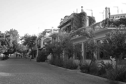 VISIT GREECE| Apostolou Pavlou str. Thiseio in black and white, Athens #Greece by Billy Patra