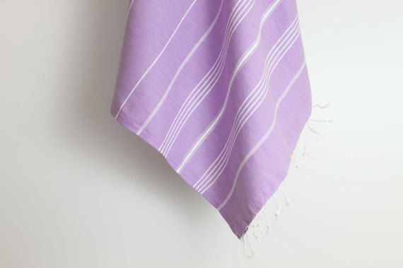Bright coloured Lilac Turkish Towel Fouta Large by LoveLoomed