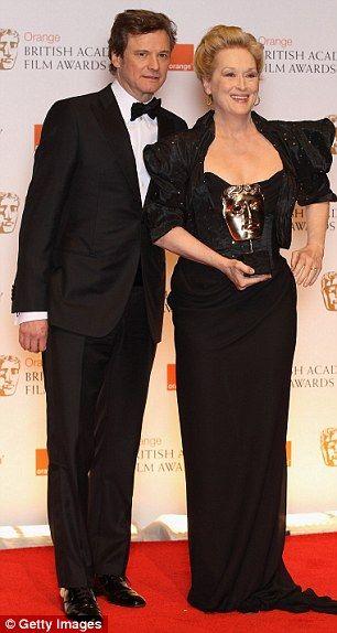 Meryl Streep and Colin Firth at the 2012 Bafta Awards