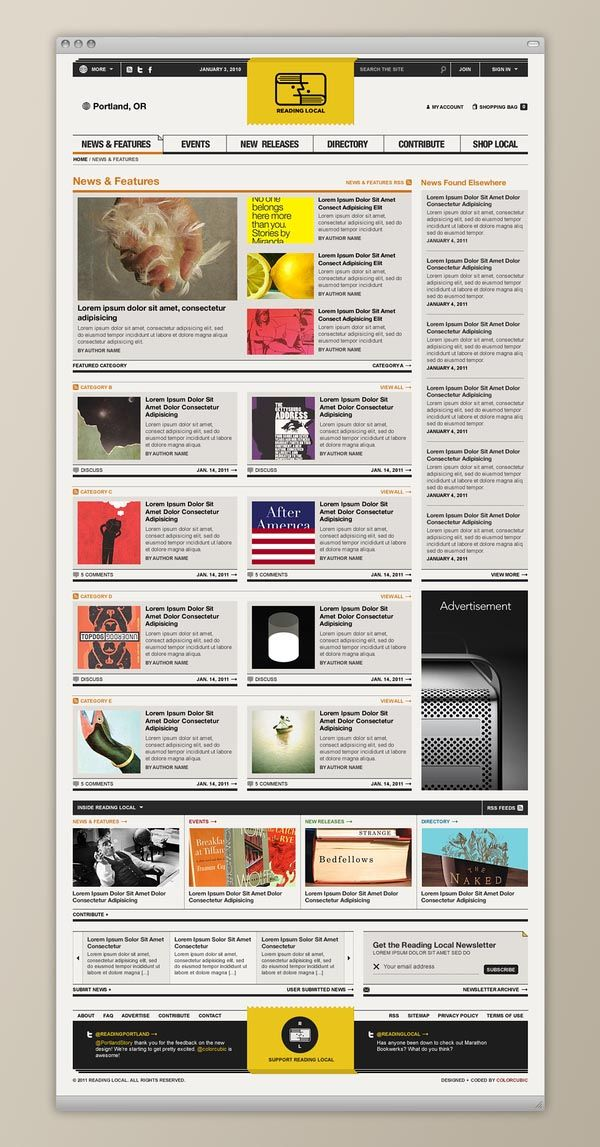 Reading Local - Web Design by Colorcubic