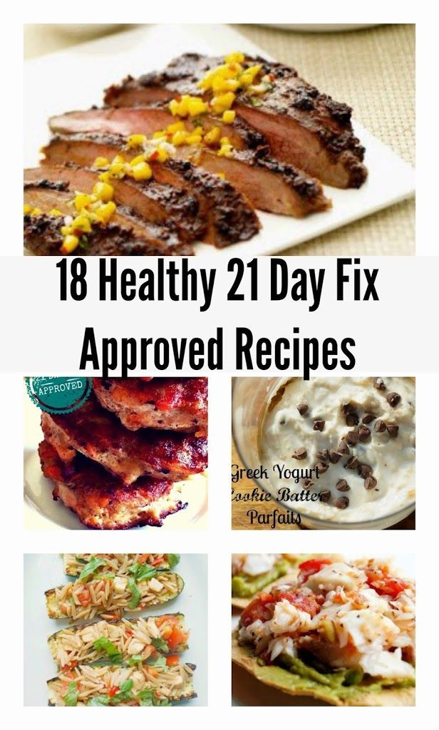 A round up of 21 Day Fix Recipes to be used for the Beachbody 21 Day Fix Program