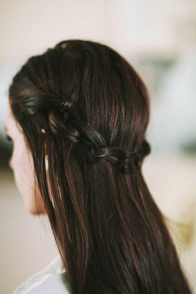 Flechtfrisur Für Offene Haare Knoten Anstatt Flechten Neu Haar