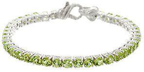 Judith Ripka As Is Sterling & Gemstone Tennis Bracelet