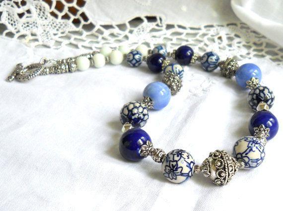 delft blue necklace delft blue jewelry delft jewelry by minouc