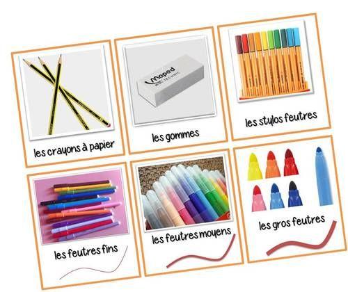 Affichettes, étiquettes pour la classe