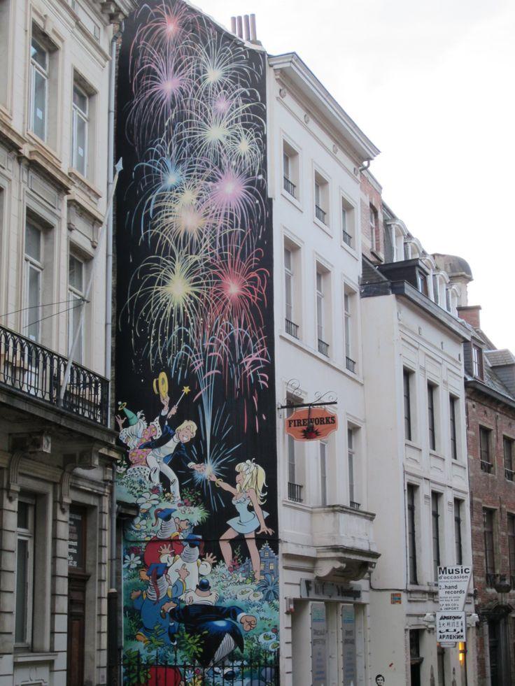 Balade en BD pour la fête nationale belge - Après 100 m... Vous êtes arrivé
