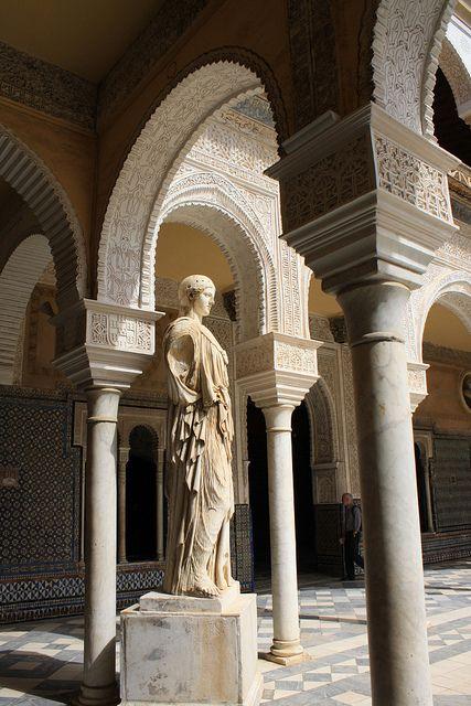 Sevilla casa de pilatos flickr intercambio de fotos seville pinterest photos patio - Casa de intercambio ...