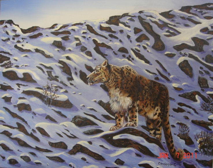 Snow Leopard Copyright 2011  Painted for South Jordan Middle School
