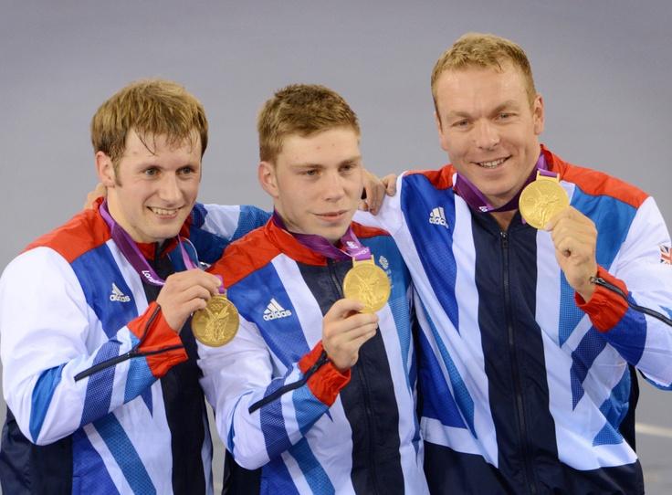 Jason Kenny Philip Hindes and Sir Chris Hoy GOLD - Track Cycling, Team Sprint
