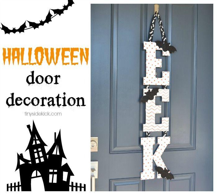 Halloween Front Door Decoration {3 great ideas} #halloweendecoration #fallfrontdoor