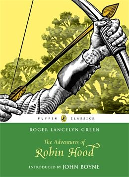 The Adventures of Robin Hood by Roger Lancelyn Green. Robin Hood is champion of the poor and oppressed by twelfth-century England against the cruel power of Prince John and the brutal Sheriff of Nottingham. He takes refuge with his Merrie Men in the vast Sherwood Forest, emerginh time and again to outwit his enemies with daring and panache.