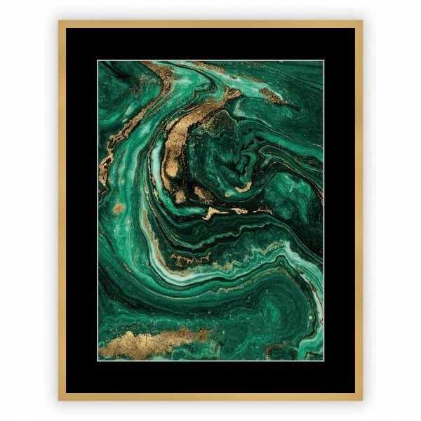 Dekoria Obraz Abstract Green Gold I 40x50 Abstract Green And Gold Art