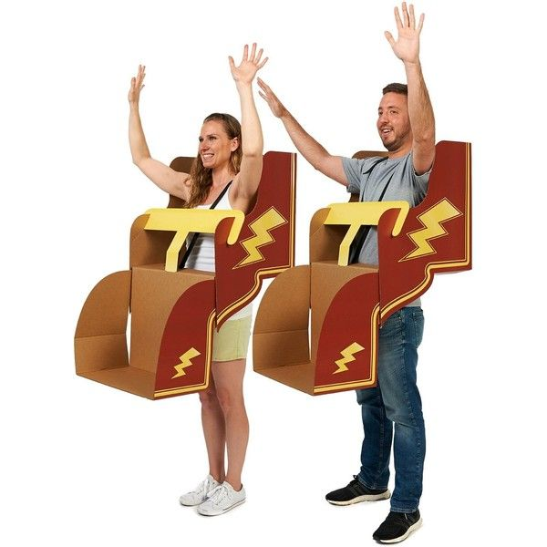 Roller Coaster DIY Cardboard Group of 2 Kit ($95) ❤ liked on Polyvore featuring halloween costumes