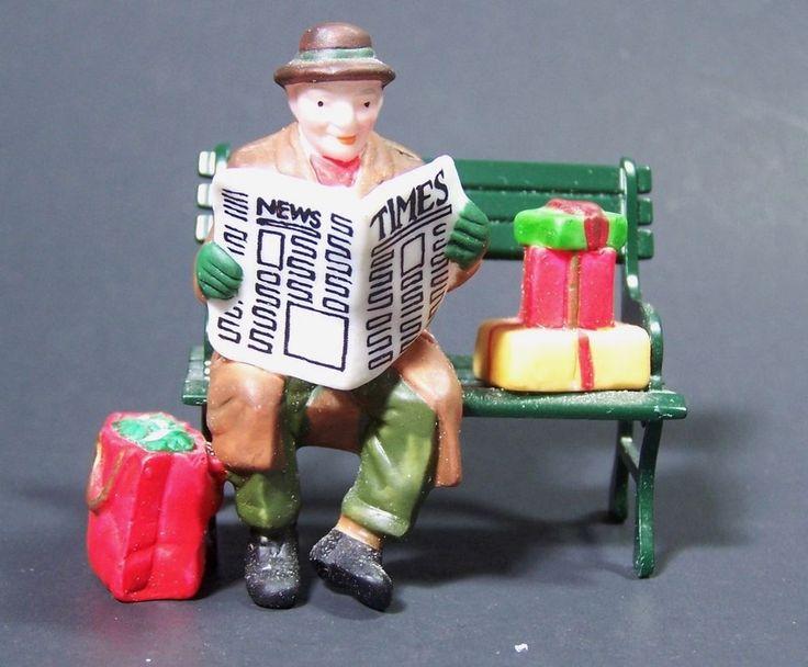 Dept 56 Rest Ye Merry Gentleman Heritage Village Collection  #5540-9 Man Bench #Dept56