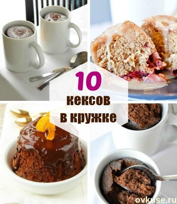 Кекс в микроволновке за 2 минуты: 10 лёгких рецептов кексов в кружке