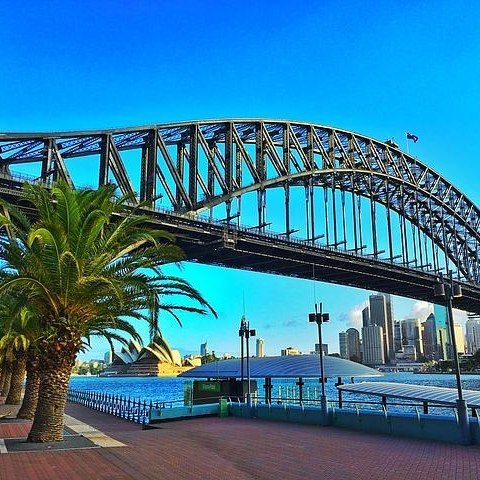 Summer evenings in Sydney where the city meets the sea.💕 #sydney #sydneyharbourbridge #sydneyharbour