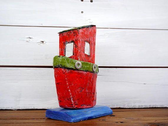 Art Objects Boats Boat Art Personalized Gift Paper Mache