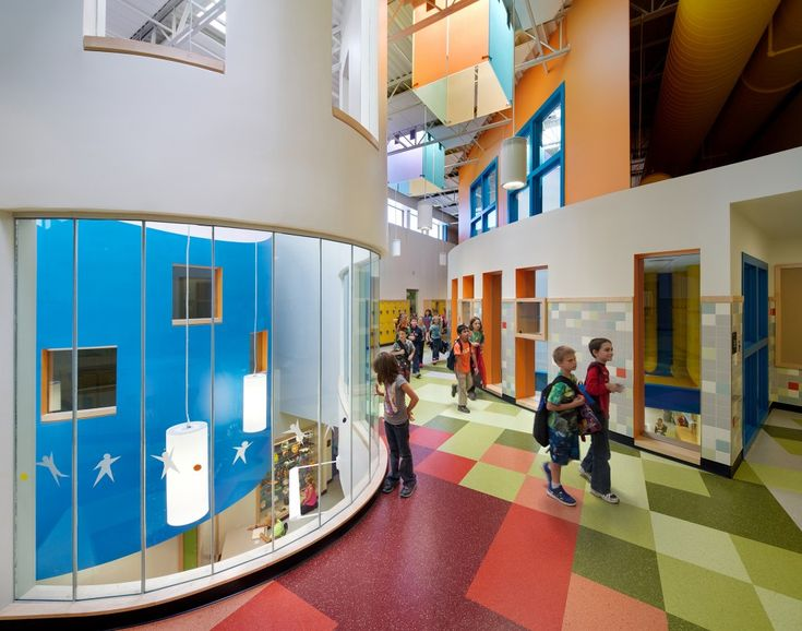 Library Design | School a Design | Bold and Bright Interior for Schools...Love it....I want to go back to school....