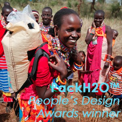 The innovative PackH2O water backpack has won the Smithsonian's Cooper-Hewitt 2013 People's Design Award.