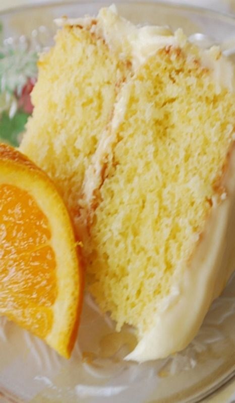 California Orange Layer Cake With Orange Cream Cheese Frosting