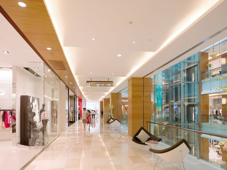 Aedas Interiors was commissioned to provide interior design for the public  areas of the retail mall
