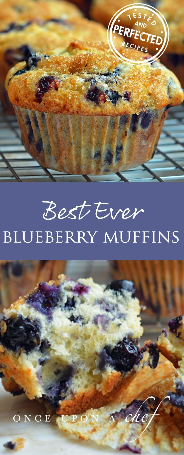 Best Blueberry Muffins. One word DELISH!!! So far my favorite recipe for blueberry muffins. My guest thought these came from a bakery. Plus use the sugar that goes on top before baking. It gives it extra crunch. It's not an over sweet muffin, which I like.