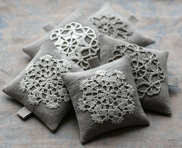 Linen lavender sachets by namolio, via Flickr
