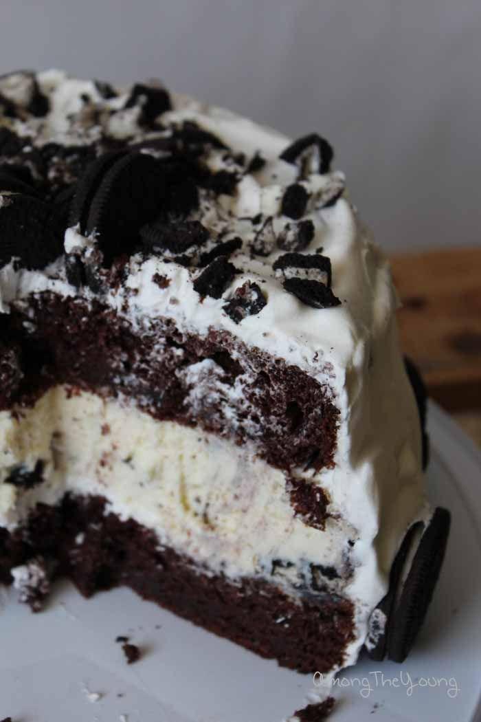 Chocolate Oreo Cheesecake Cake - Among the Young