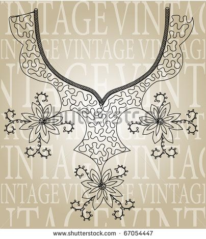 Vintage embroidery design