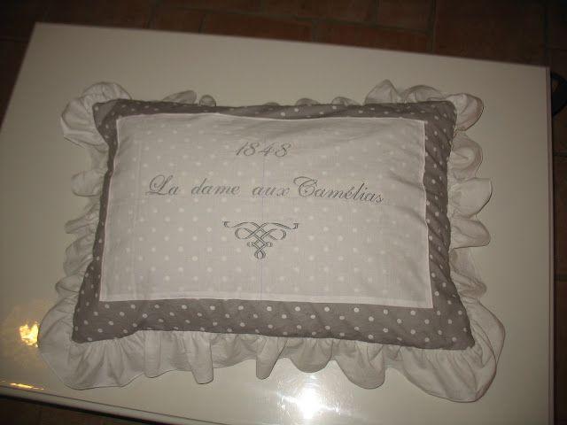 coussin parrure de lit décoration couture tutoriel taie d'oreiller
