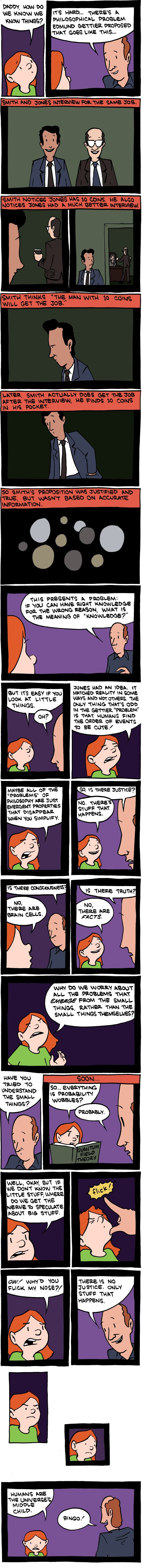 Saturday Morning Breakfast Cereal - Gettier Problem.