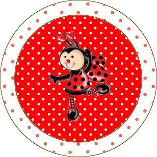 Joaninha - Kit Completo com molduras para convites, rótulos para guloseimas, lembrancinhas e imagens!: