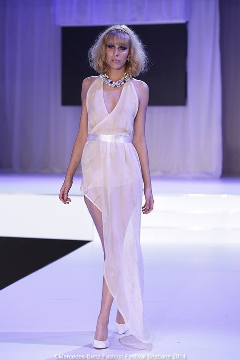 Suzii K's latte-coloured creations showed a lot of promise on the MBFF runway.
