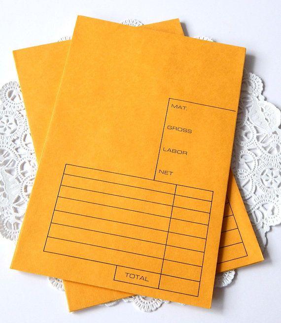 Vintage Money Envelopes. Kraft Envelope. 6x9 by ThePaperBasket