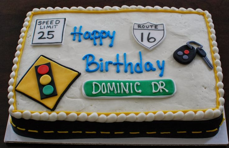 Driving themed cake for 16th Birthday by Snacky French