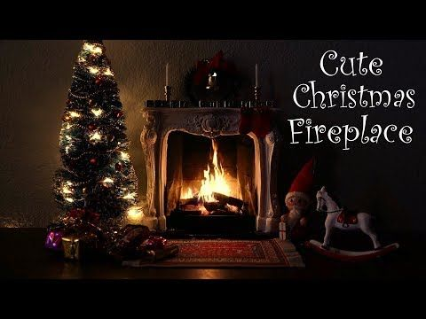 Cute Christmas Fireplace Scene with Soft Crackling Fire Sounds - YouTube
