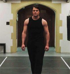 Muscles - Dimitri Belikov | via Tumblr