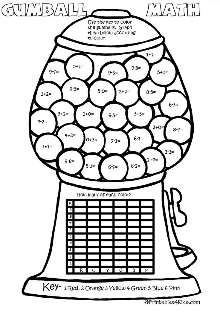 math facts coloring pages - photo#29