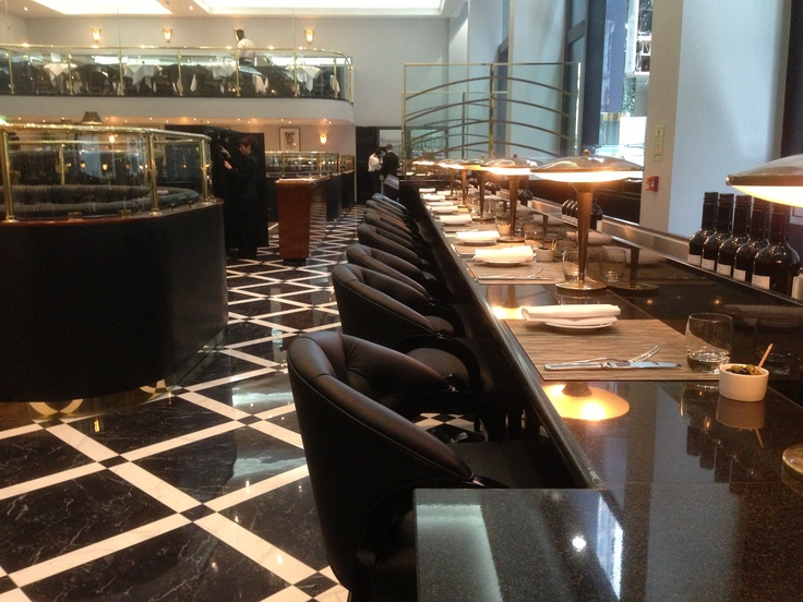 Two side bars offer the finest Nespresso coffee, along side vibrant Patisserie & Savoury stands, as beautiful to look at as they are to taste. #restaurant #London