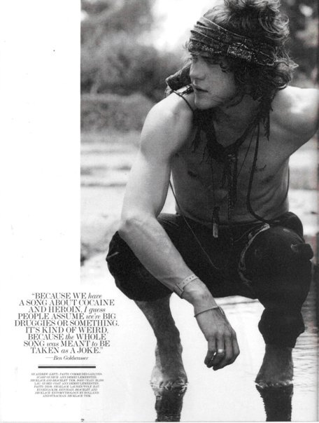 Andrew Vanwyngarden    makes beautiful music for a living and has thousands of cute hipster fangirls who would do anything to be with him. that sounds pretty perfect, doesn't it?