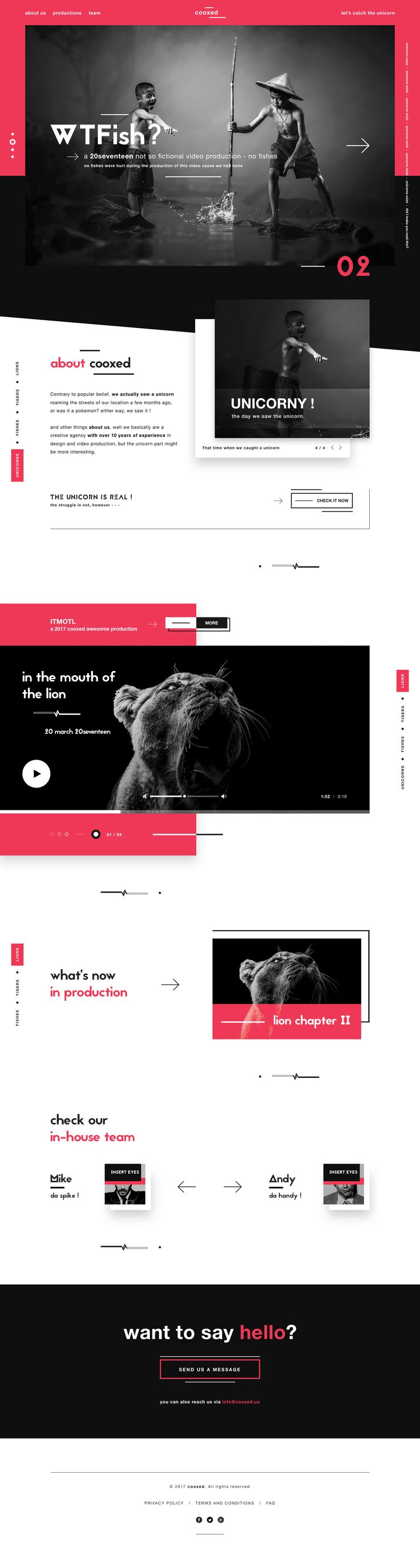 Cooxed digital video agency landing page funky dribbble modern v3