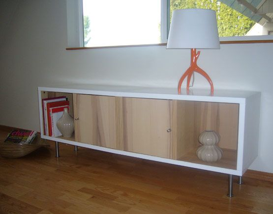 modern credenza ikea hack  DIY projects  Pinterest  Ikea hacks, TVs and Easy diy