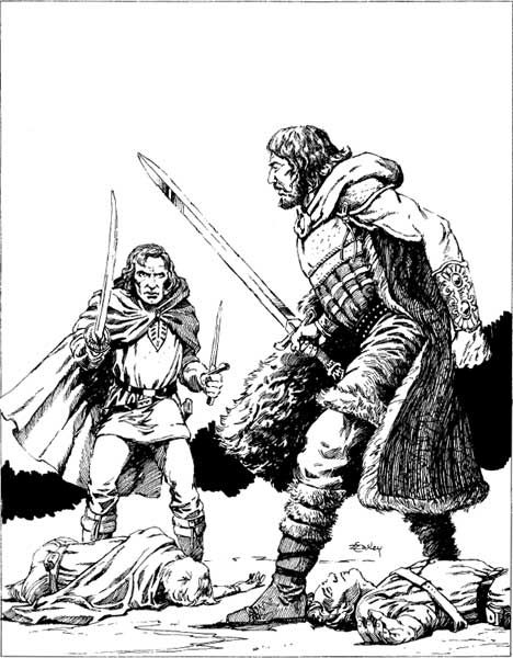 Fafhrd and the Gray Mouser by Jeff Easley, from the AD&D
