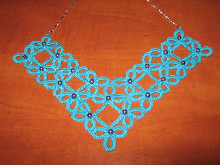 necklace with tatting