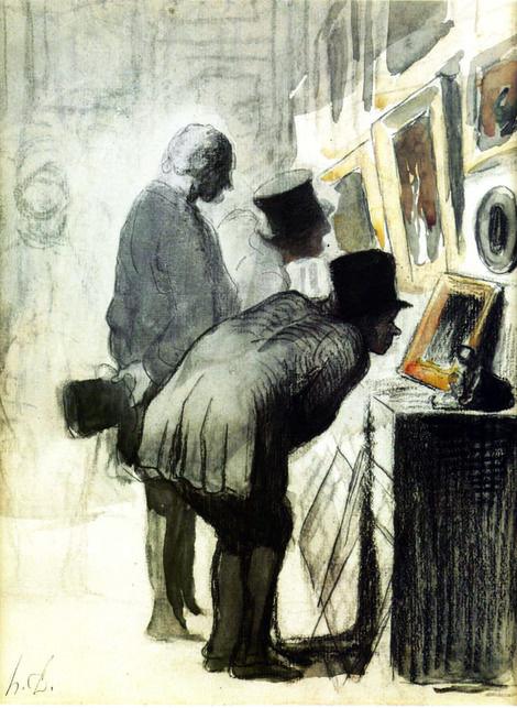 Honoré Daumier, Les Amateurs de peinture