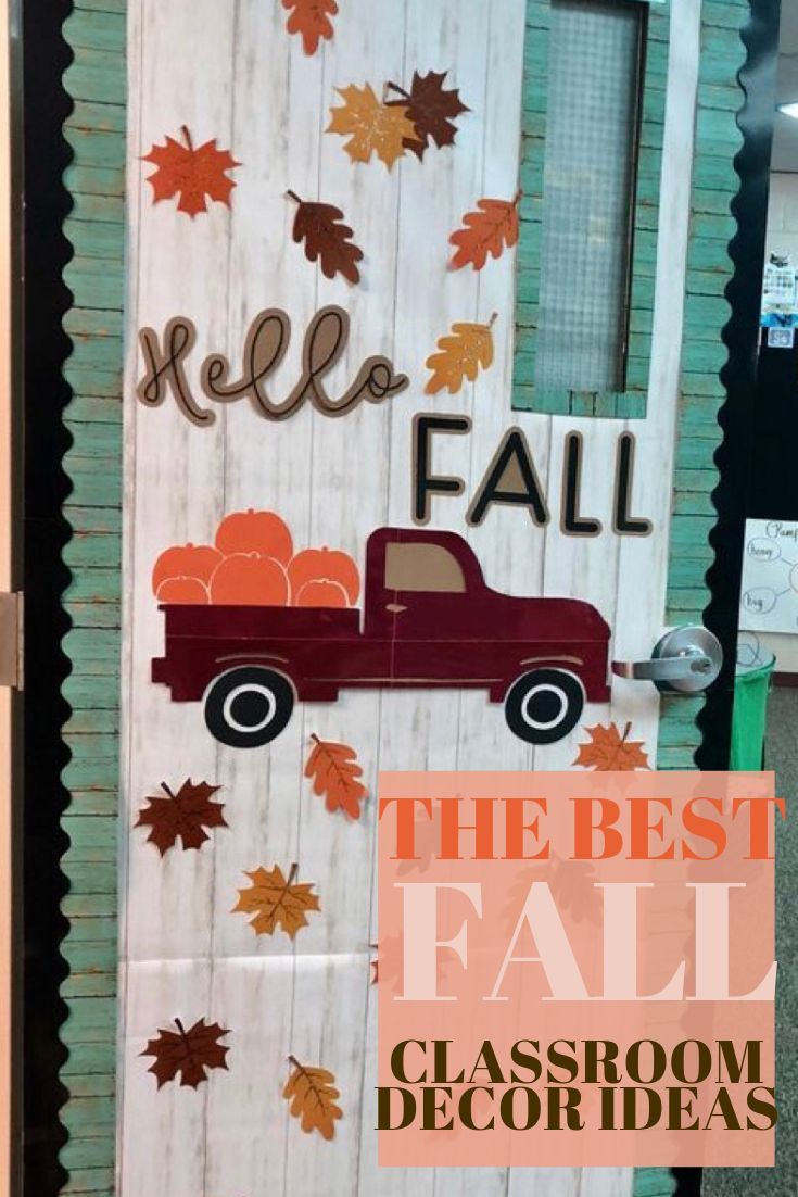 35 Best Classroom Decoration Ideas For Fall Chaylor Mads In 2020 Fall Classroom Decorations Halloween Door Decorations Classroom Fall Classroom Door